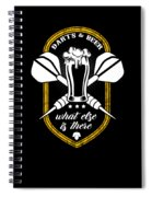 Funny Dart Player Darts And Beer Lovers Spiral Notebook