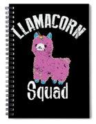 Funny Llamacorn Squad Unicorn Alpaca Lama Spiral Notebook