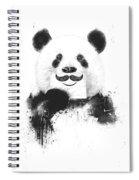 Funny Panda Spiral Notebook