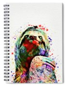 Funny Sloth Spiral Notebook