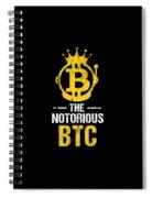 Funny The Notorious Btc Bitcoin Crypto Spiral Notebook