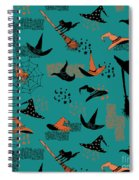 Funny Witch Hats Art Spiral Notebook
