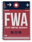 Fwa Fort Wayne Luggage Tag II Spiral Notebook