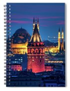 Galata Tower And Suleymaniye Mosque Spiral Notebook