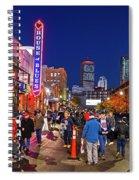 Game Night On Lansdowne Street 2018 World Series Red Sox Boston Ma 2 Spiral Notebook