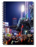 Game Night On Lansdowne Street 2018 World Series Red Sox Boston Ma Spiral Notebook