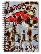 Gargoyle Mobiloil Vacuum Oil Co Rusty Sign Spiral Notebook