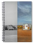Gas Station - In The Middle Of Nowhere 1940 - Side By Side Spiral Notebook