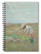 Gathering Flowers, Shinnecock, Long Island, 1897 Spiral Notebook