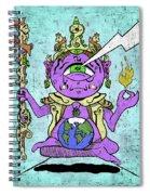 Gautama Buddha Colour Illustration Spiral Notebook