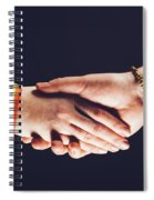 Gay And Christian Person Shaking Hands Spiral Notebook