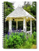 Gazebo In A Beautiful Public Garden Park 3 Spiral Notebook