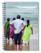 Gazing Towards The Rough Sea  Spiral Notebook