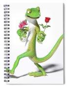 Gecko In Love Spiral Notebook