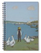 Geese By The River Loing 02 Spiral Notebook