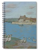 Geese By The River Loing 03 Spiral Notebook