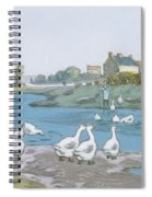 Geese By The River Loing 04 Spiral Notebook