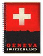 Geneva Switzerland World City Flag Skyline Spiral Notebook