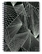 Geometric Pattern 1-colour-4 Spiral Notebook