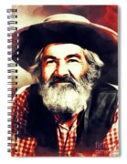 George Gabby Hayes, Vintage Actor Spiral Notebook