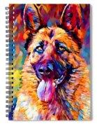German Shepherd 11 Spiral Notebook