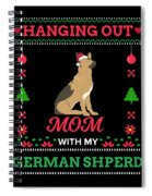 German Shepherd Ugly Christmas Sweater Xmas Gift Spiral Notebook