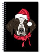 German Shorthair Xmas Hat Dog Lover Christmas Spiral Notebook