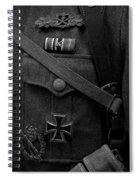 German Soldier Ww2 Black And White Spiral Notebook