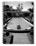 Getty Villa Massive Pool Black White Landscape  Spiral Notebook