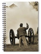 Gettysburg Battlefield - Confederate Artillerymen Firing Cannon Spiral Notebook