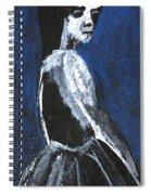 Girl In A Dress Spiral Notebook