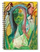Girl In A Garden Spiral Notebook