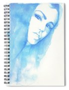 Girl In Blue Spiral Notebook