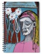 Girl In Pink Spiral Notebook