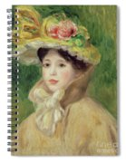 Girl With Yellow Cape, 1901 Spiral Notebook
