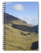 glen in highlands known as  the Rest and be Thankful Spiral Notebook