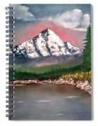 Glowing Mountain Spiral Notebook