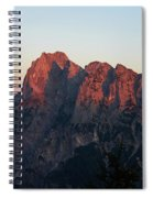 Glowing Mountains Spiral Notebook