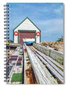 Goat Island Boat House Spiral Notebook