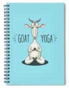 Goat Yoga - Meditating Goat Spiral Notebook
