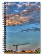 Going Up Greenville South Carolina Construction Cranes Building Art Spiral Notebook
