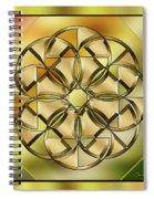 Gold Design 24 Spiral Notebook