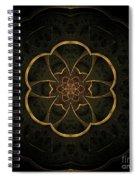 Gold Inlay Spiral Notebook
