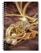 Gold Jewelry Close Up Spiral Notebook