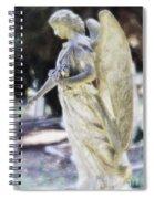 Golden Angel With Pink Rose Spiral Notebook