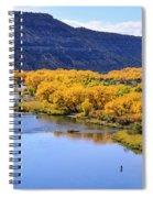 Golden Autumn Trees San Juan River Landscape Spiral Notebook
