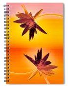 Golden Duo Water Lilies Spiral Notebook