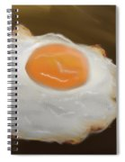 Golden Fried Egg Spiral Notebook