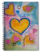 Golden Heart Spiral Notebook