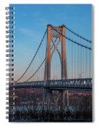Golden Hour At Mid-hudson Bridge Spiral Notebook